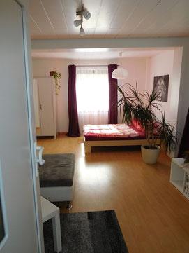Wohn- und Schlafzimmer - Unterkunft in Hessigheim bei Ludwigsburg; Großraum Stuttgart